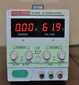 VOLTEQ REGULATED VARIABLE DC POWER SUPPLY HY6003D 60V 3A New Model